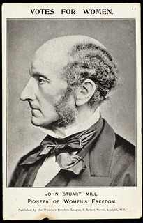 Postcard featuring John Stuart Mill,c. 1907. | by LSE Library