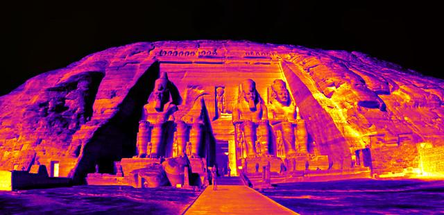 Abu Simbel thermal image