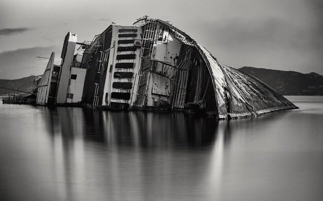 shipwreck of Mediterranean Sky