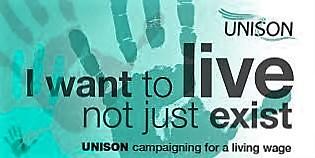 圖04.英國公共服務業工會生活工資訴求 - 勞工要的不只是生存 更要生活