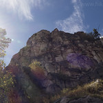 Red rocky cliffs