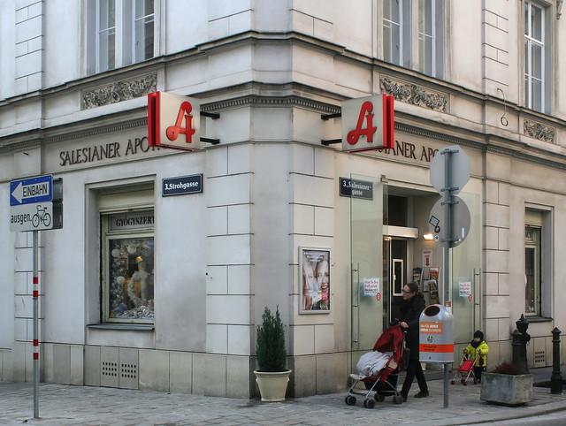 Street corner in Vienna-Landstraße