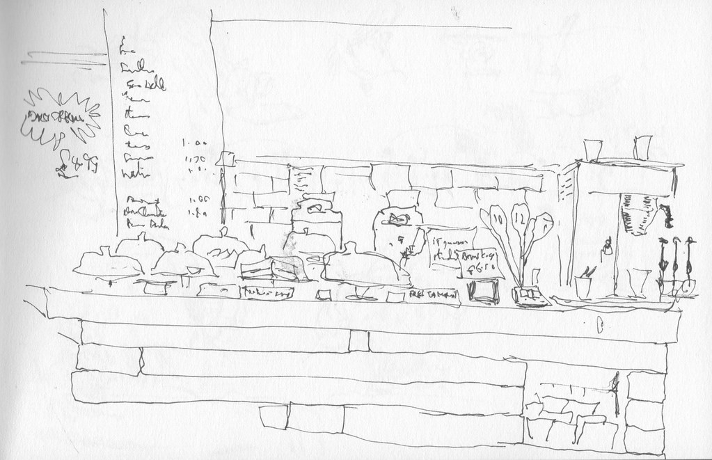 Cafe Counter Lunch In The Brynmill Coffee House The Sketc