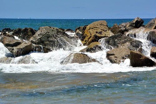 ocean california beach water rocks waves running pacificocean venicebeach breakwater rushingwater breakingwaves santamonicabay waterpictorial joelach