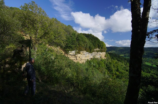Vue Sur la roche pourrie - Salins Les Bains