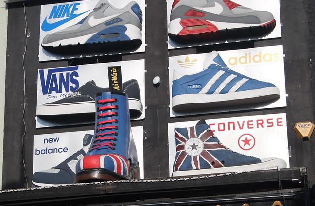 Footwear on roof