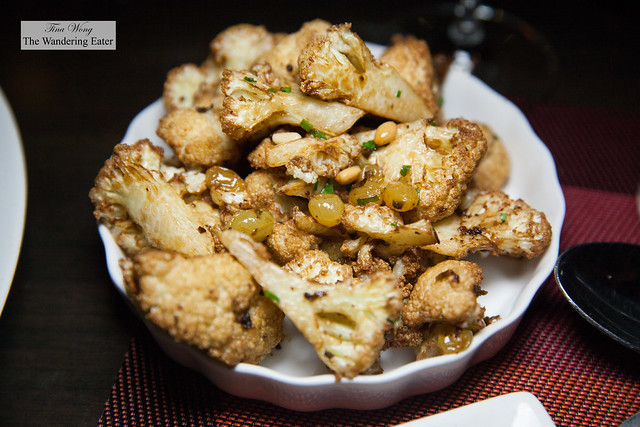 Roasted cauliflower, anchovy & pine nuts