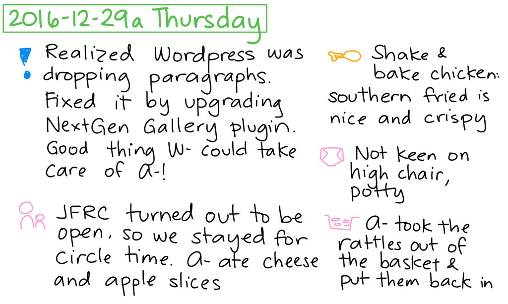 ... 2016-12-29a Thursday #daily #journal - by sachac