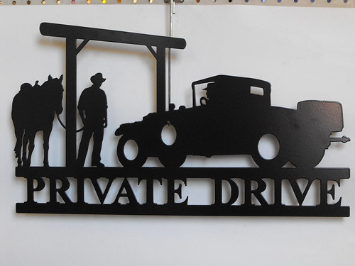private drive car and horse | by providencemetalart