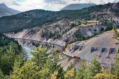 cn ashcroft sub thompson river canyon bc britishcolumbia canada cp pacific train railway railroad mountain nikon d7100 september 2016