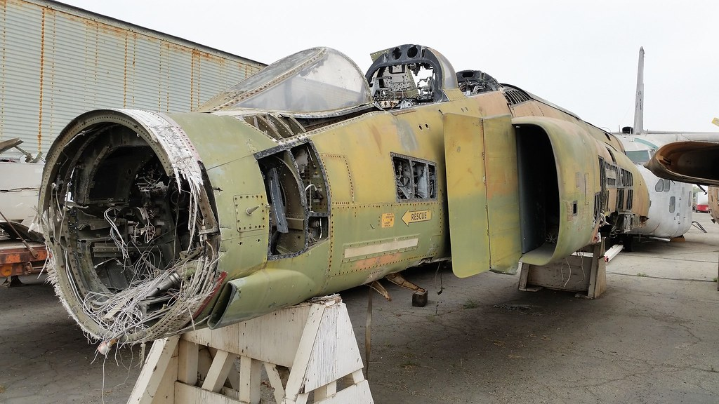 F-4C Phantom-II 64-0915 ex USAF. Stored/ Dismantled with the Yanks Air-Museum, Chino, California. 2nd of June 2016.