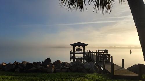 morning nature fog sunrise morninglight florida foggy fl indianriver rockledge galaxys6