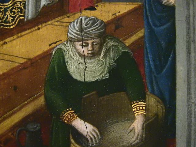 GIOVANNI FRANCESCO DA RIMINI (Attribué),1440-50 - Vie de la Vierge, La Naissance de la Vierge (Louvre) - Detail 70