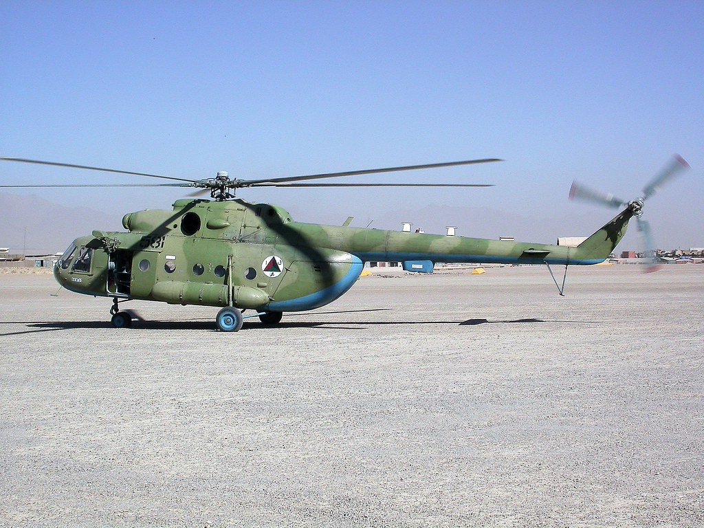 Mi-8MTV.1 581 Afghan National Army Air Corps/ ANA-AC. Tarin-Kowt, Uruzgan, Afghanistan. October 2009.