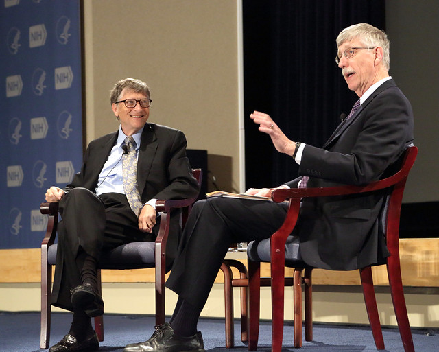 Bill Gates and Francis Collins at the NIH