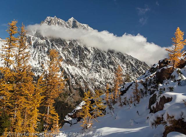 Mount Stuart in Clouds, Alpine Lakes Wilderness, Washington