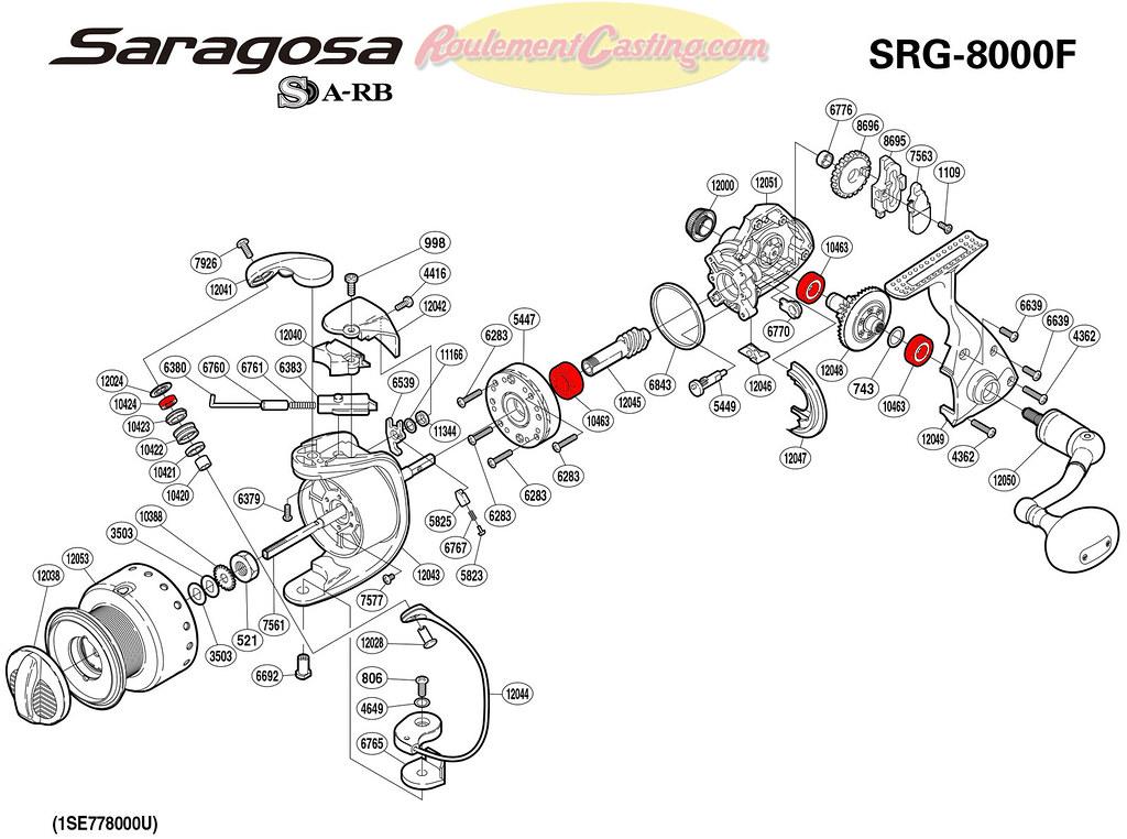 Schema-Shimano-SARAGOSA-8000F    roulementcasting com/schema