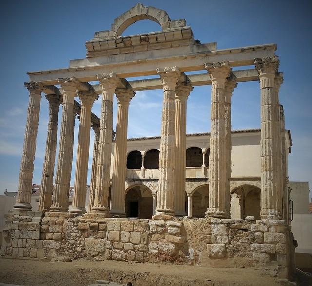 Templo Romano en Mérida. Badajoz.
