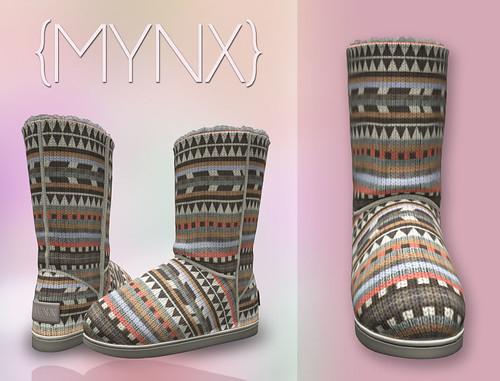 {MYNX} Bootie - Tribal Peach