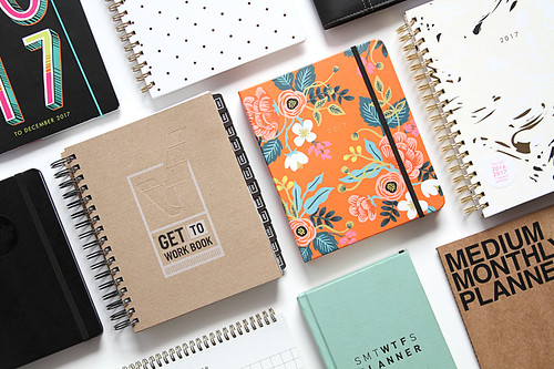 group of spiral notebook planners | by yourbestdigs