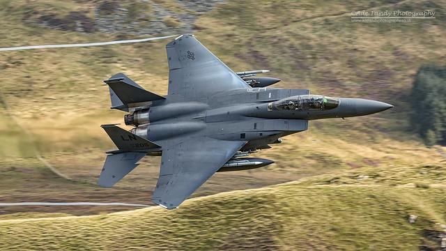 USAF McDonnell Douglas F-15E 96-0205-LN Cad West Mach Loop 10/09/2015