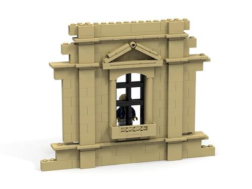 Lego building wall window