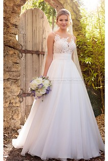 Essense of Australia Unique Wedding Dress Asymmetrical Neckline Style D2183 | by fashion_feel