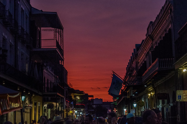 New Orleans Street Sunset