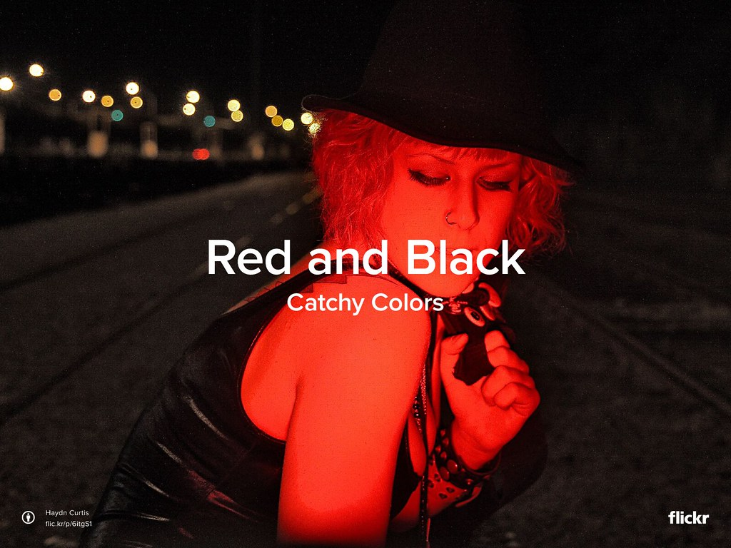 Catchy Colors: Red and Black