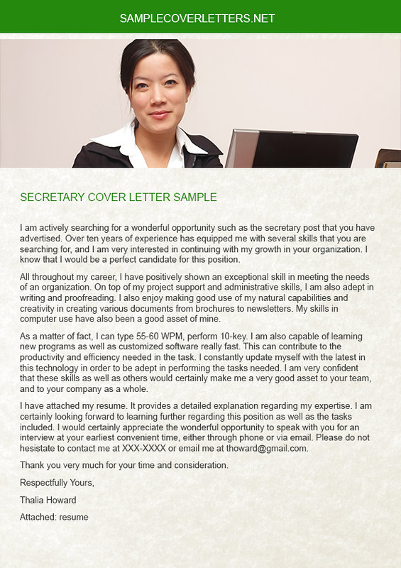 Secretary Cover Letter Sample To Get A Professional Job Yo Flickr
