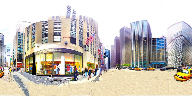 Radio City Music Hall Manhattan Street Scene - IMRAN™ (360° 4π Panorama)
