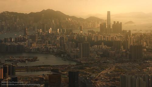 cityscape kowloonpeninsula kowloon sunset dusk urban city skyline hongkong victoriaharbour victoriahabour kaitak