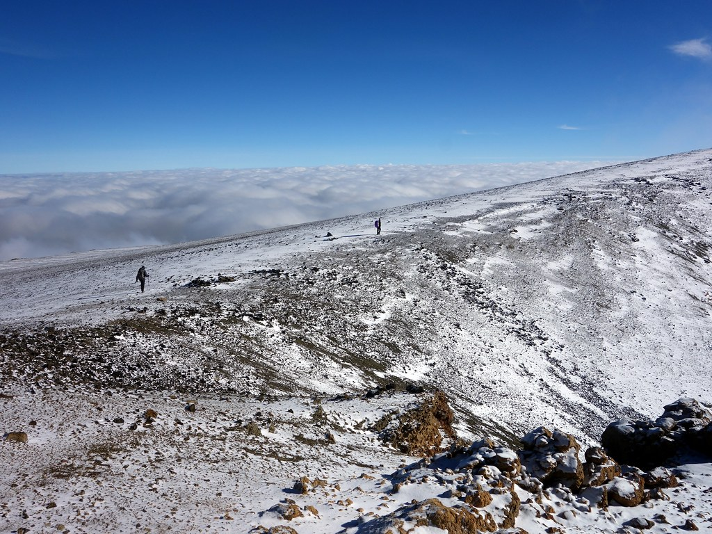 Walking the rim of Kilimanjaro's inner crater