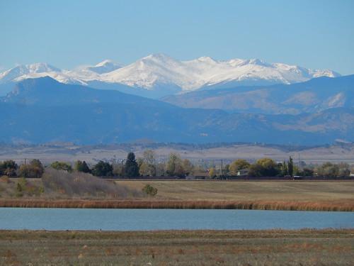 Colorado - zicht op Rocky Mountains vanaf I25 - 2