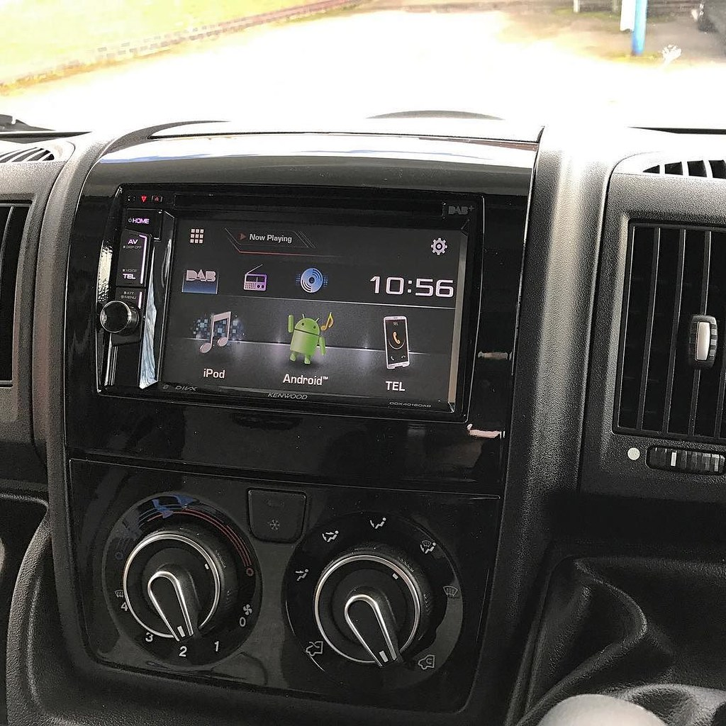 Kenwood DDX-4016DAB installed into 2015 Fiat Ducato Motorh