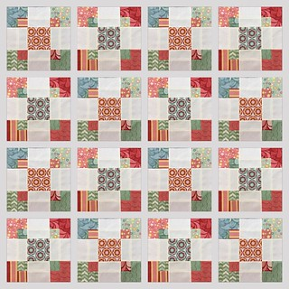 This is what a full #quilt with #disappearingninepatch variation could look like