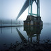 St. Johns Bridge, foggy morning by Zeb Andrews