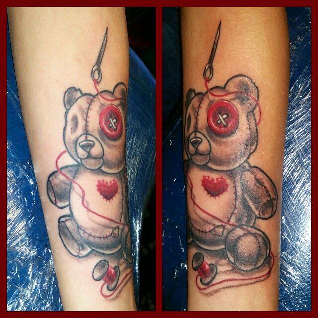 Custom Voo-Doo bear i did today for $60 Tattoo wednesday  … | Flickr