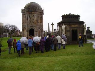 Glasgow Necropolis, GAS walk, March 2009