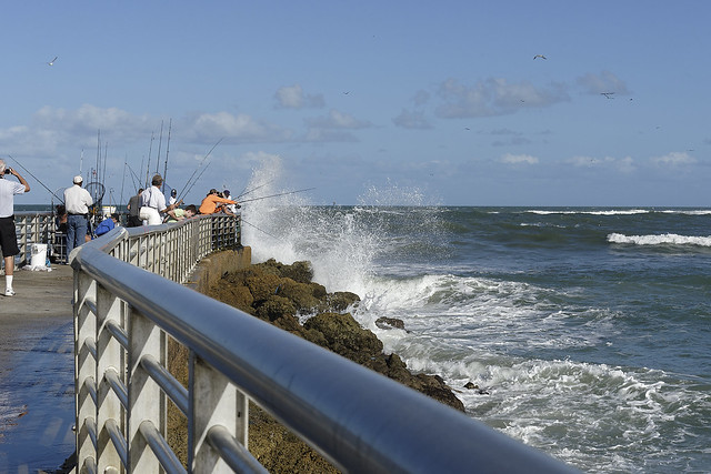 Fishing the South Sebastian Inlet Jetty