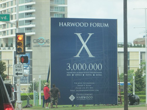 Harwood International billboard announcing Harwood Forum development in Downtown Dallas, June 2014. | by skys the limit2