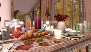 Thanksgiving 2015- Fall Tablescape | by Hidden Gems in Second Life (Interior Designer)