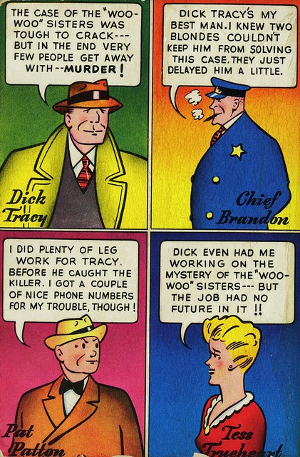 Dell Books NN #1 - Chester Gould - Dick Tracy and the Woo Woo Sisters (back)