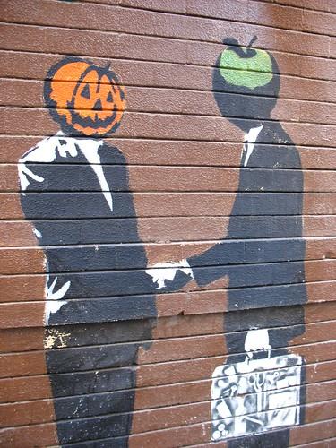 Mr. Pumpkin and Mr. Apple | by Orin Zebest