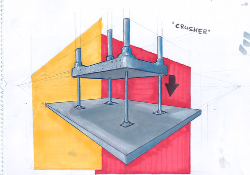 Vodafone Desk Crusher Treatment Sketch | by donshades