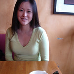 Wendy before a nice breakfast in Edwards