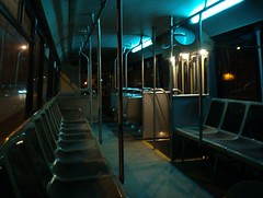 Empty Bus at Night | by tocityguy