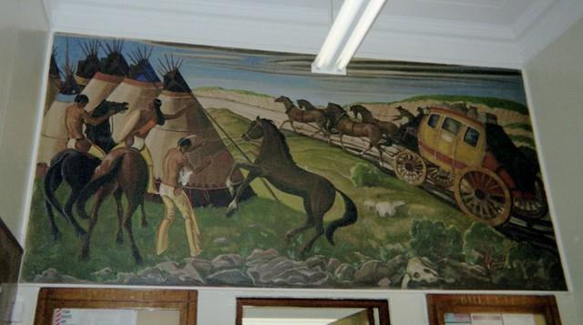 Hugo, Oklahoma Post Office Mural