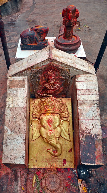 Nepal - Bungamati - Karya Binayak Temple - Ganesha - 4