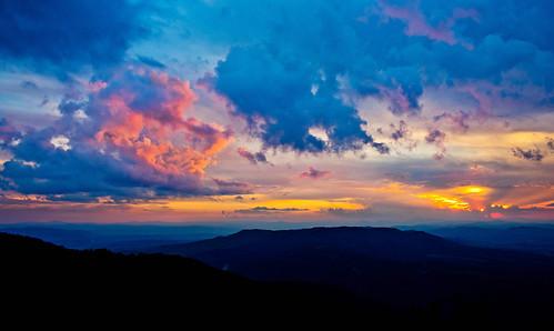 blue sky orange cloud mountain beautiful yellow clouds landscape sundown sofia outdoor bulgaria vitosha vitoshamountain
